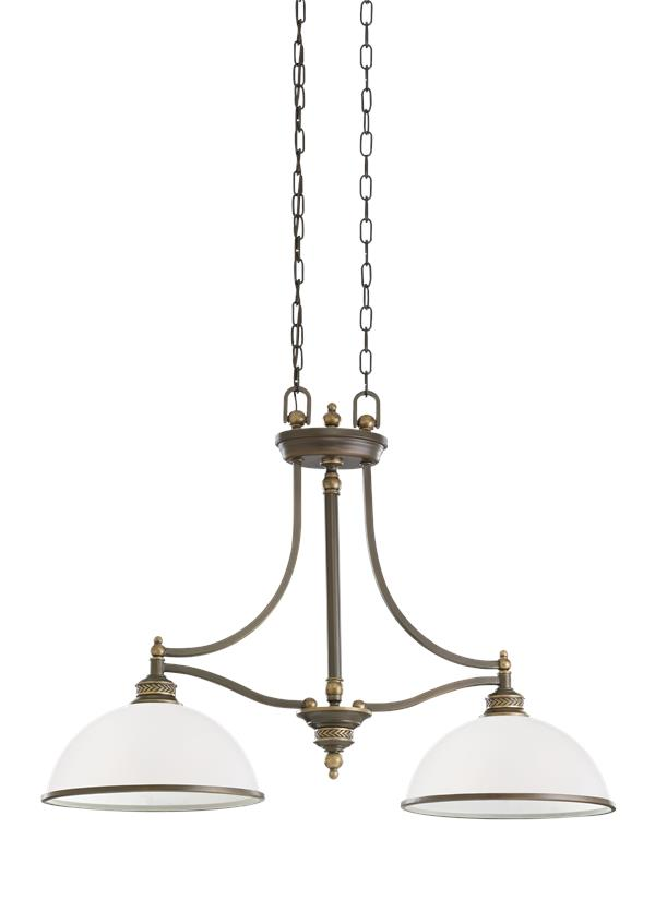 ENTwo Light Island PendantEstate Bronze - Two light island pendant