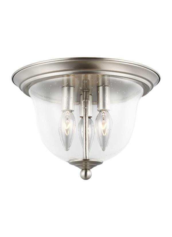 7514503 962 Three Light Ceiling Flush Mount Brushed Nickel