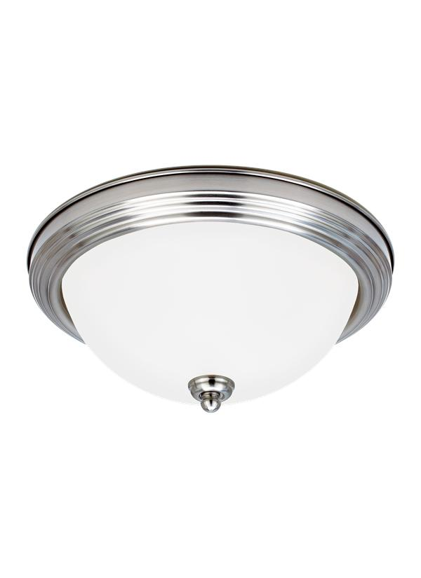 77063 962 One Light Ceiling Flush Mount Brushed Nickel