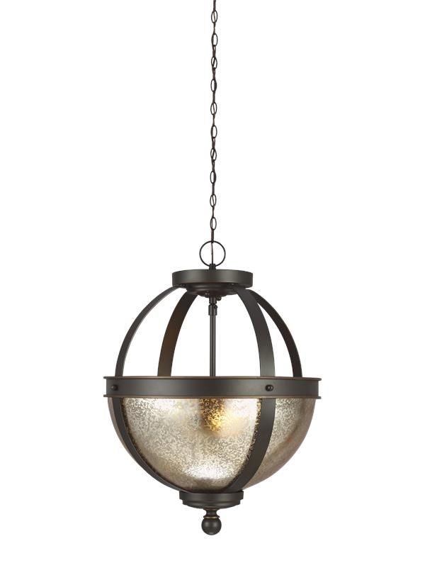 7710402 715 Two Light Semi Flush Convertible Pendant