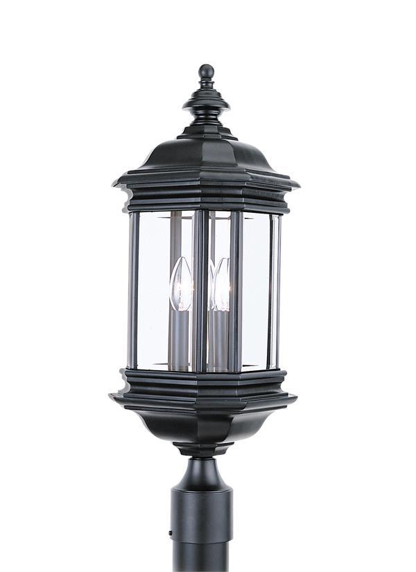8238en 12 Three Light Outdoor Post Lantern Black