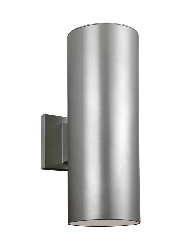 8313802 753two light outdoor wall lanternpainted brushed nickel