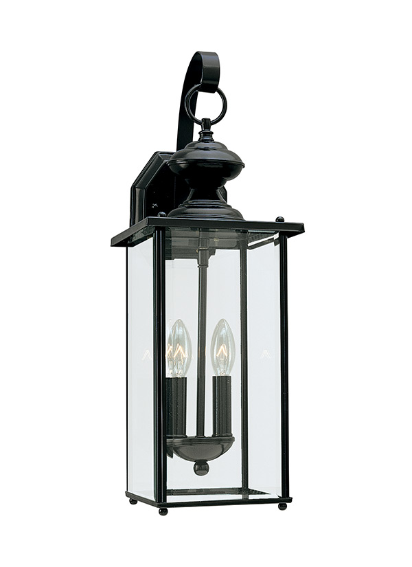 8468-12,Two Light Outdoor Wall Lantern,Black