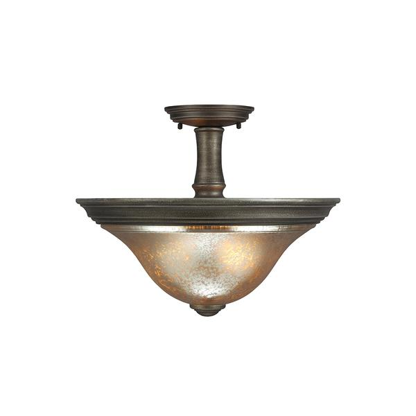 7770402 736 two light semi flush convertible pendant platinum oak
