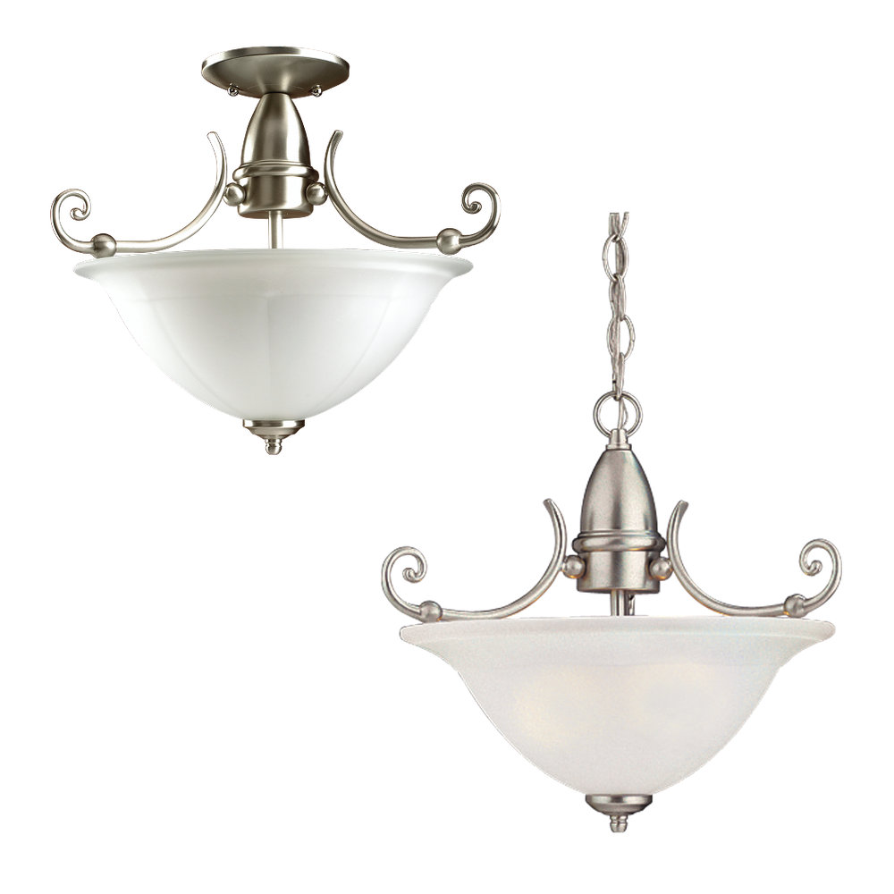 edwardian bathroom lighting 51050 962 two light ceiling semi flush pendant brushed 12765